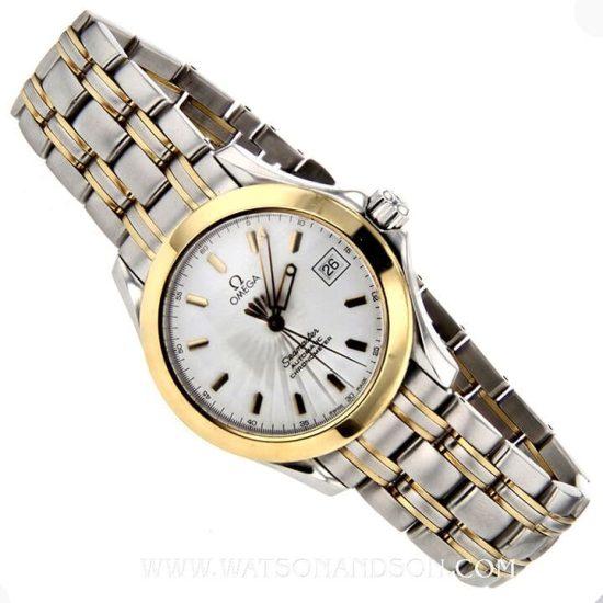Two Tone Omega Seamaster Bracelet Watch 1