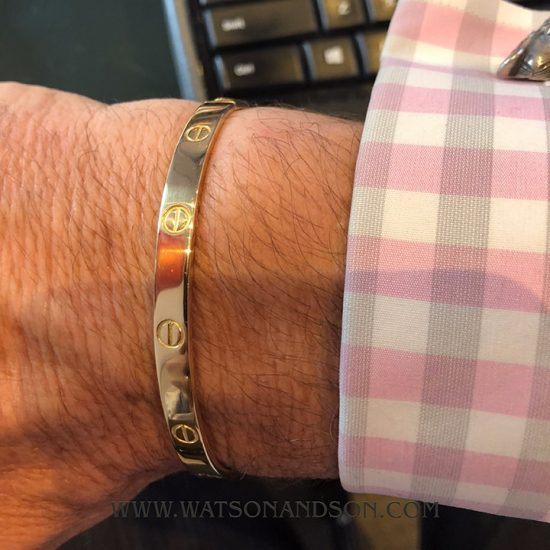 Gents Yellow Gold Cartier Love Bangle 4