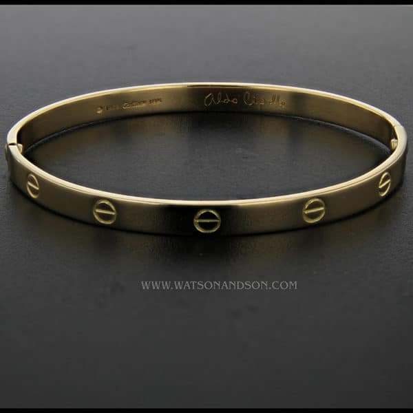 Gents Yellow Gold  Cartier Love bangle 1