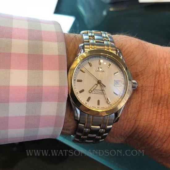 Two Tone Omega Seamaster Bracelet Watch 4