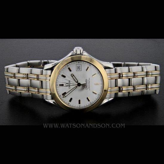Two Tone Omega Seamaster Bracelet Watch 3