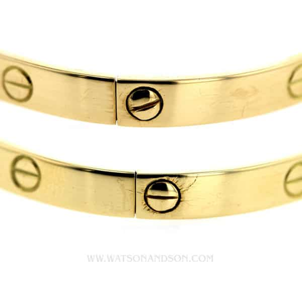 Gents Yellow Gold  Cartier Love bangle 5