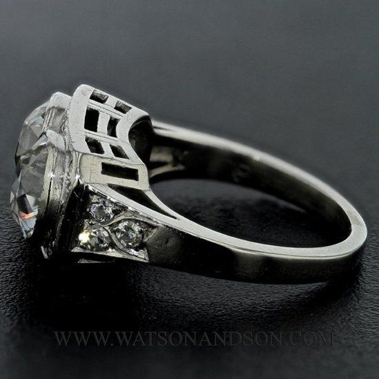 Platinum Edwardian Twin Ring 3
