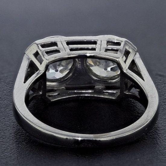 Platinum Edwardian Twin Ring 4