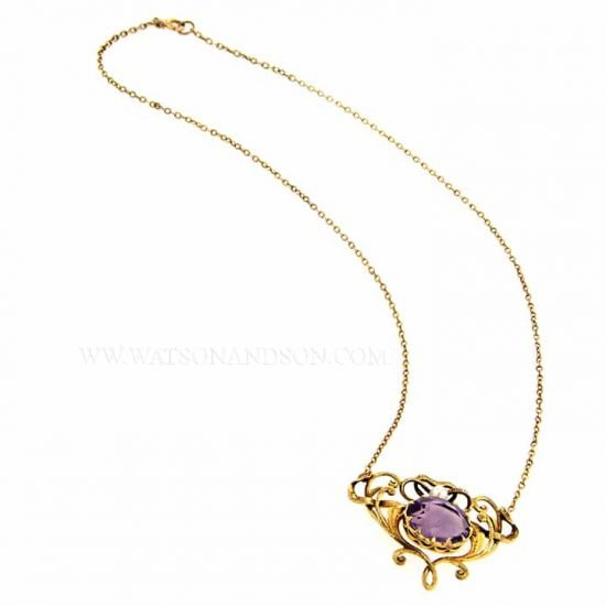 14k Victorian Amethyst and Pearl Pendant 4