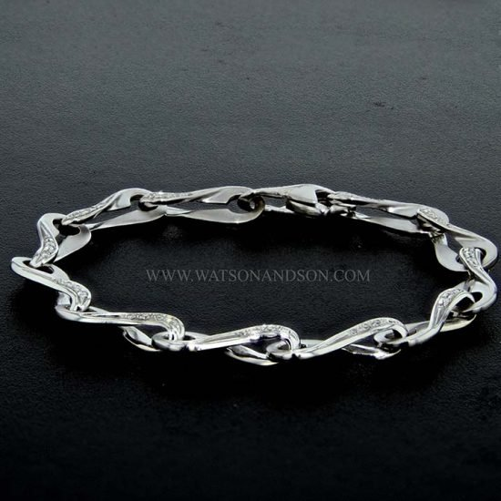 White Gold Diamond Infinity Bracelet 4