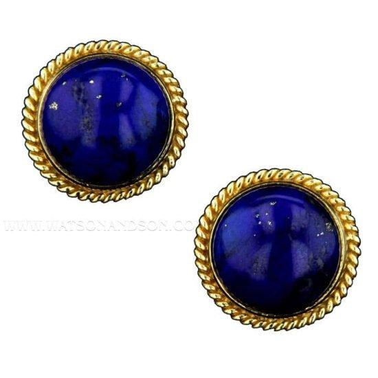Luxurious Lapis Lazuli Ear Clips 1