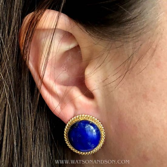 Luxurious Lapis Lazuli Ear Clips 3