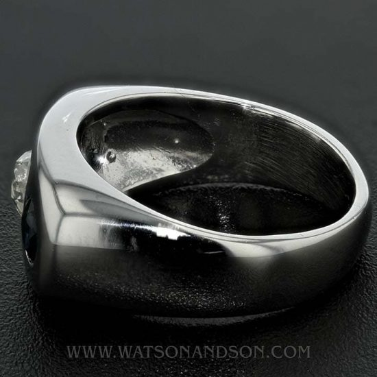 14K White Gold Diamond And Sapphire Band 4
