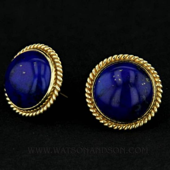 Luxurious Lapis Lazuli Ear Clips 4