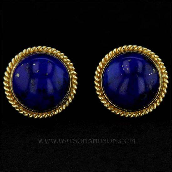 Luxurious Lapis Lazuli Ear Clips 2