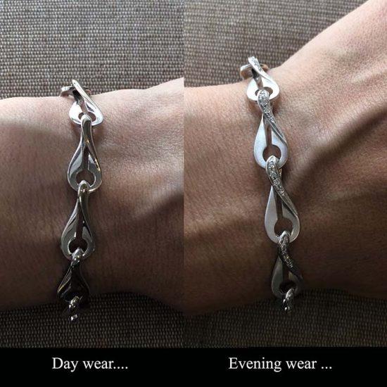 White Gold Diamond Infinity Bracelet 7