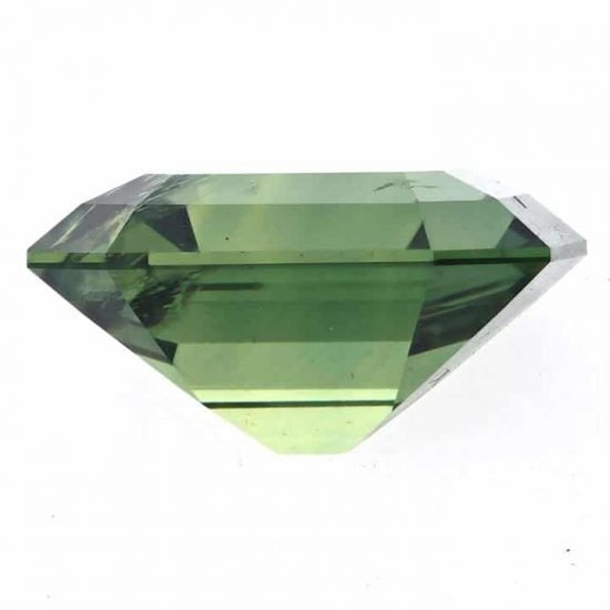 Emerald Cut Green Natural Sapphire - September Birth Stone 2