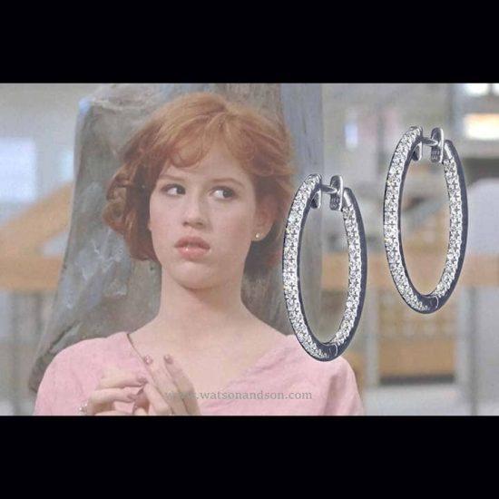Inside Outside Diamond Hoop Earrings 2
