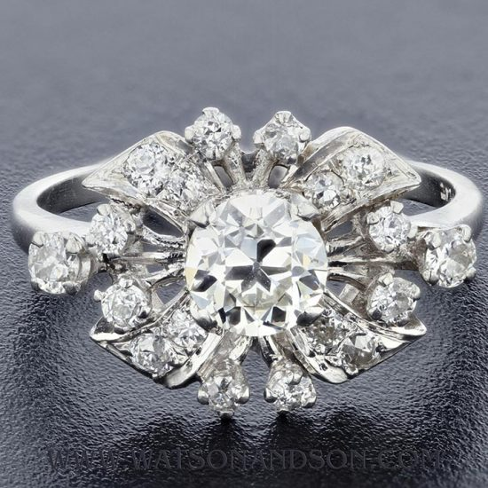 Platinum Diamond Cluster Ring 1
