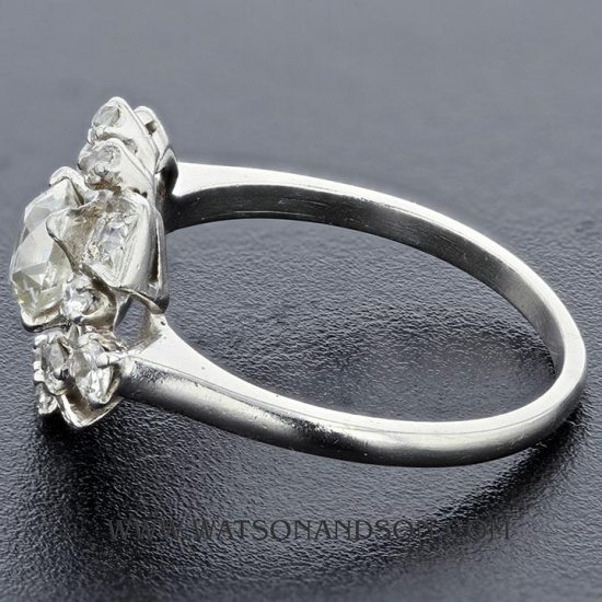 Platinum Diamond Cluster Ring 2