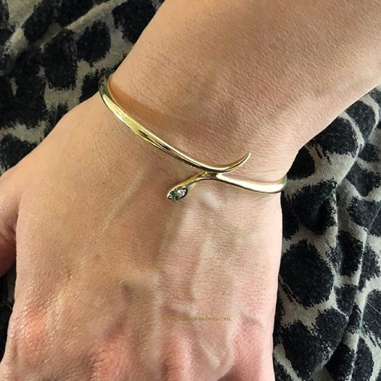 14K Yellow Gold Snake Bangle 5