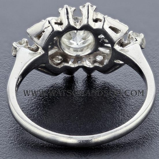 Platinum Diamond Cluster Ring 4