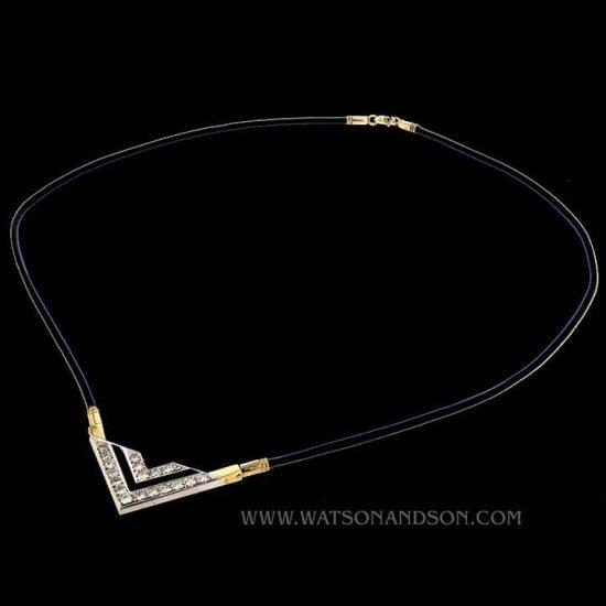 Onyx & Diamond Deco Revival Necklace 1