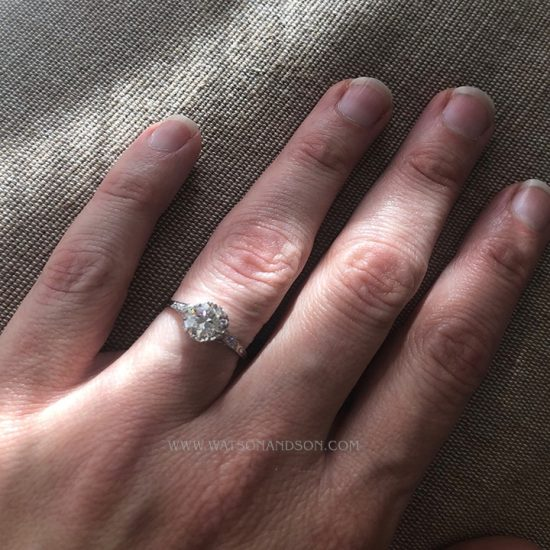 Platinum Diamond Engagement Ring 4