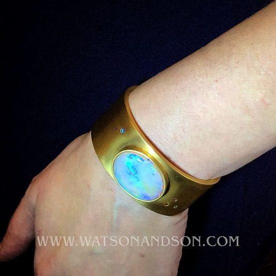 Australian Opal Cuff Bracelet 4
