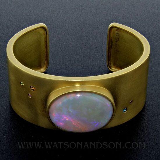 Australian Opal Cuff Bracelet 1