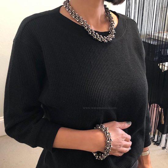 Sterling Silver Necklace And Bracelet Set 5