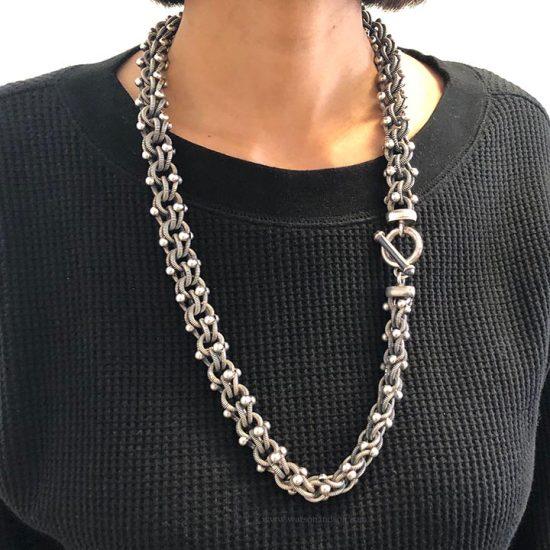Sterling Silver Necklace And Bracelet Set 6