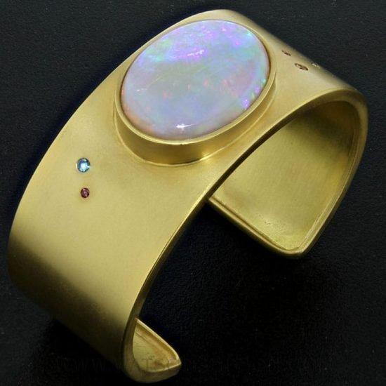 Australian Opal Cuff Bracelet 2