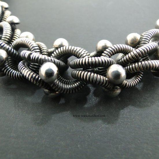 Sterling Silver Necklace And Bracelet Set 4