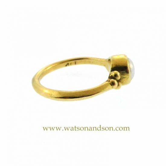 18K Granulated Pearl Ring 3