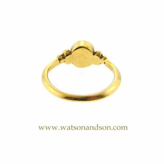 18K Granulated Pearl Ring 4