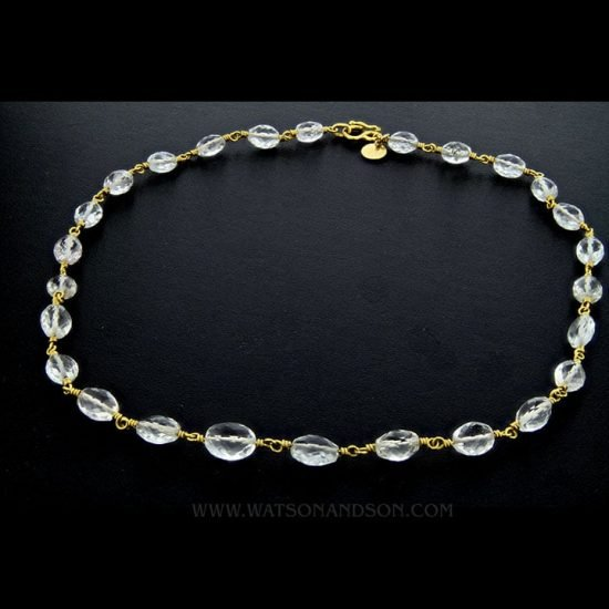 18K Quartz Crystal Necklace 1