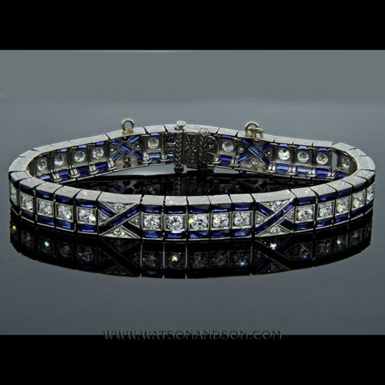 Art Deco Sapphire And Diamond Bracelet 1
