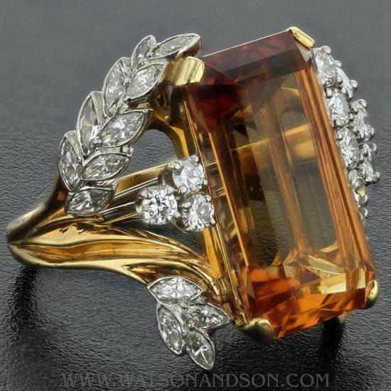 Precious Topaz And Diamond Ring 4