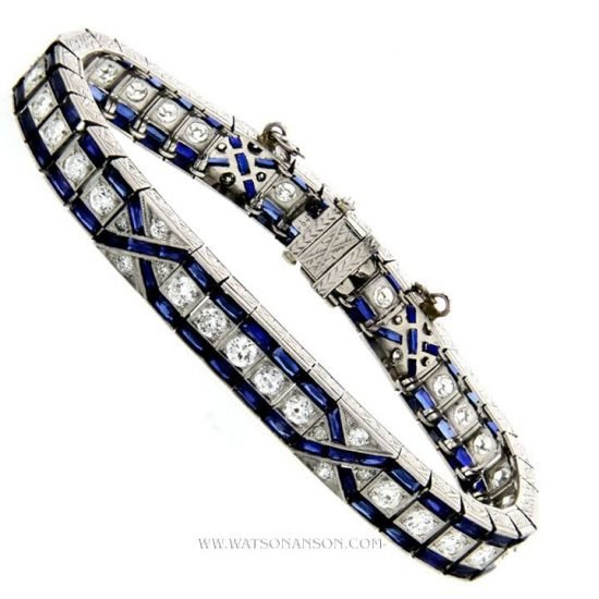 Art Deco Sapphire And Diamond Bracelet 2
