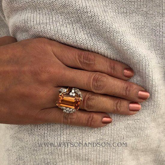 Precious Topaz And Diamond Ring 2