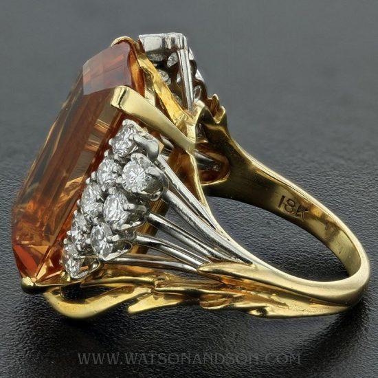 Precious Topaz And Diamond Ring 3