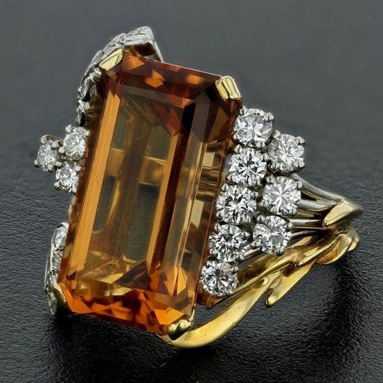 Precious Topaz And Diamond Ring 1