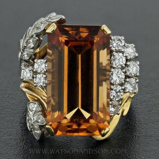 Precious Topaz And Diamond Ring 5