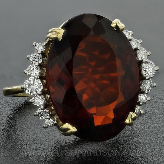 Garnet And Diamond Ring By H. Stern 1