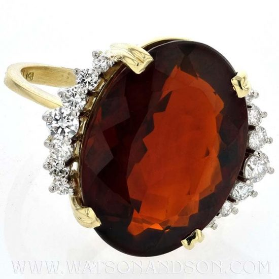 Garnet And Diamond Ring By H. Stern 4