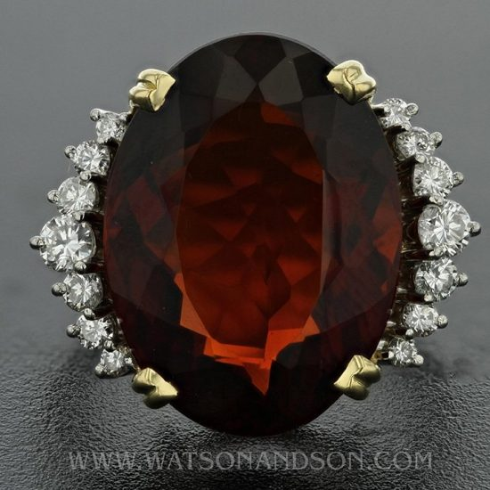 Garnet And Diamond Ring By H. Stern 2