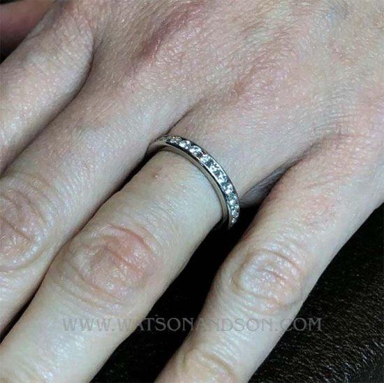 Platinum Tiffany &Amp; Co Diamond Wedding Band 3