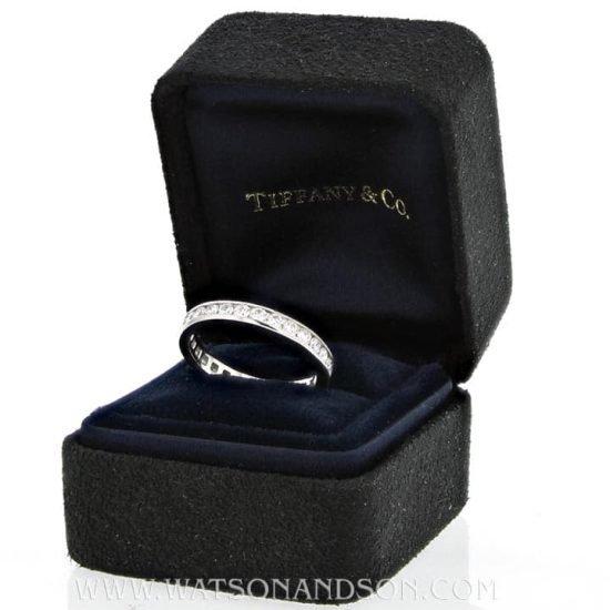 Platinum Tiffany &Amp; Co Diamond Wedding Band 4