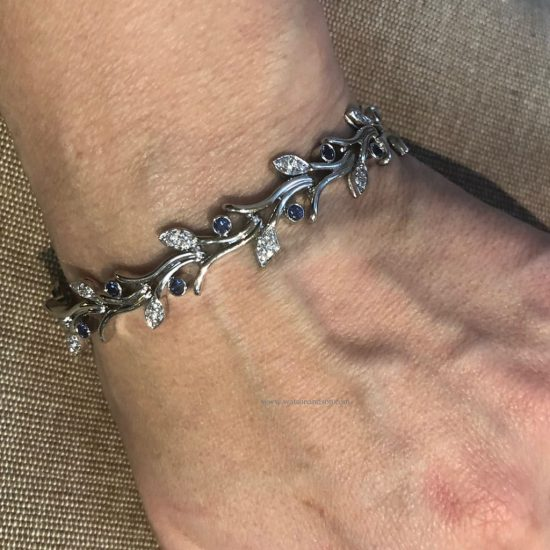 Platinum Tiffany &Amp; Co Platinum Sapphire And Diamond Garland Bracelet 3