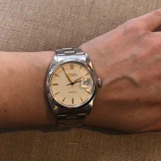 Stainless Steel Rolex Oysterdate Precision Bracelet 6