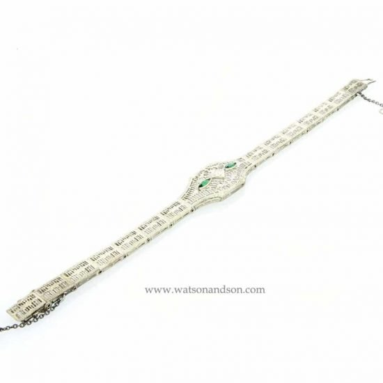 14K White Gold Filigree Bracelet 3