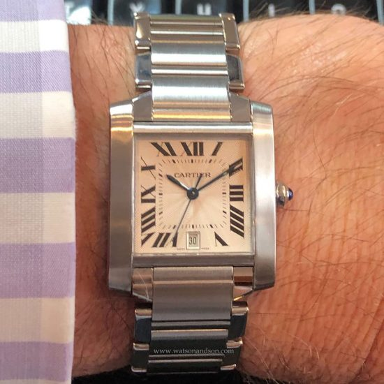 Stainless Steel Cartier Tank Francaise 5