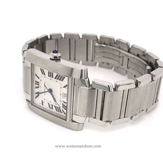 Stainless Steel Cartier Tank Francaise 3